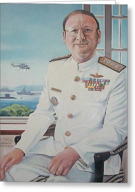 Vadm Robert Claude Simpson-anderson Greeting Card