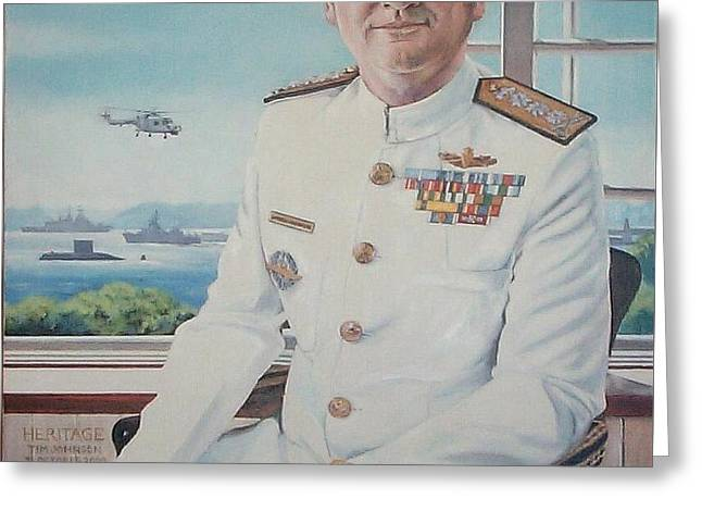 Greeting Card featuring the painting Vadm Robert Claude Simpson-anderson by Tim Johnson