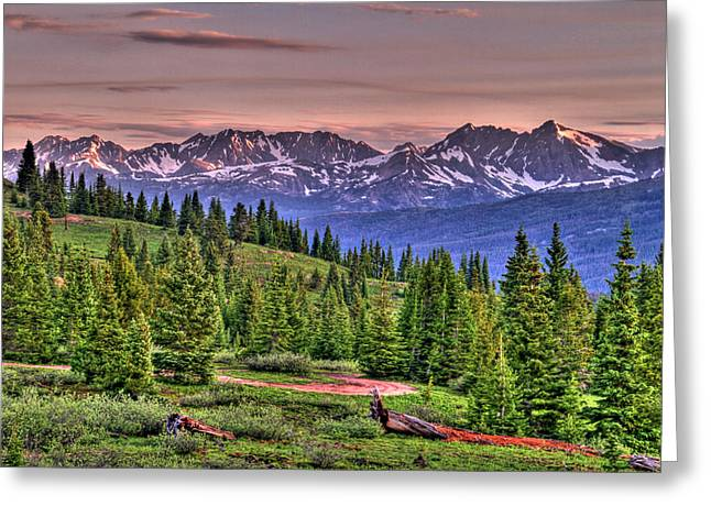 Vail View Greeting Card by Scott Mahon