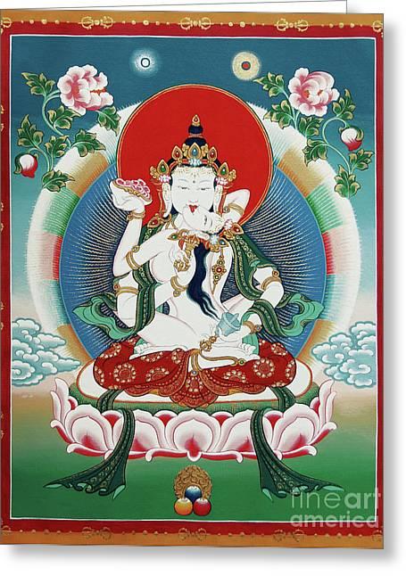 Thangka Greeting Cards - Vajrasattva Yuganadha  Greeting Card by Sergey Noskov
