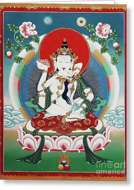 Vajrasattva Yuganadha  Greeting Card