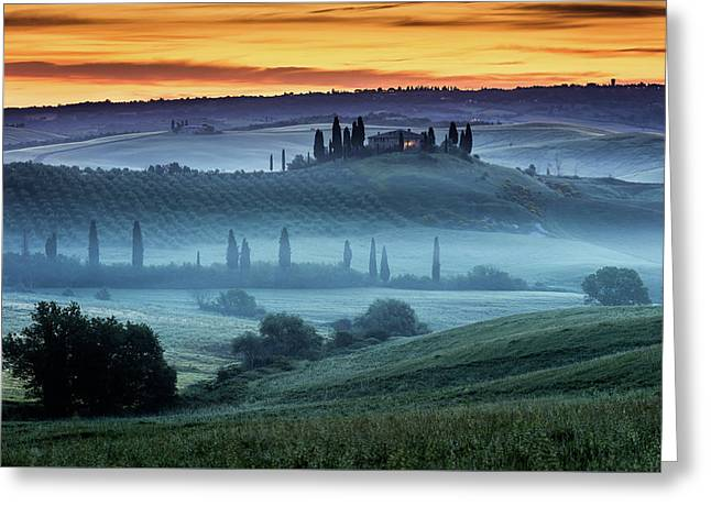 Val D'orcia Greeting Card by Evgeni Dinev