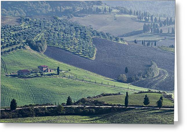 Val D'orcia, Panorama Greeting Card