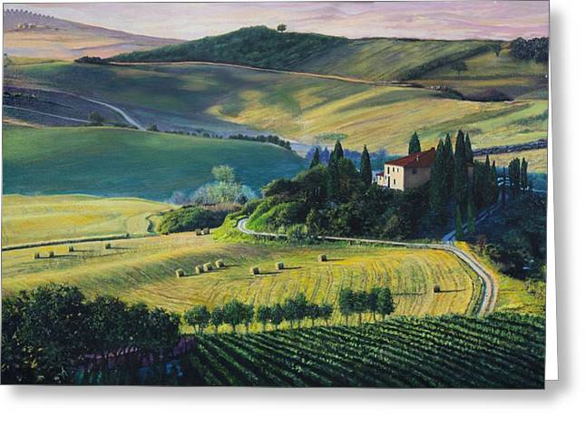 Val D'orcia Greeting Card by Richard Barone