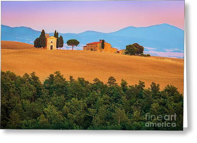 Val D'orcia Serenity Greeting Card by Inge Johnsson
