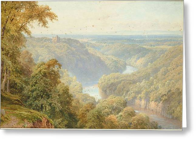 Vale Of Mowbray From Hackfall Greeting Card by Harry Sutton Palmer