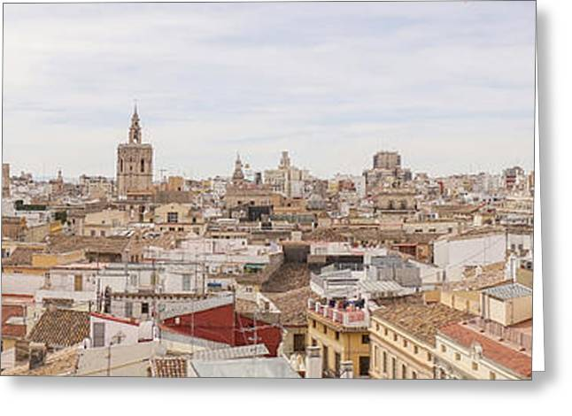 Valencia Panorama Greeting Card