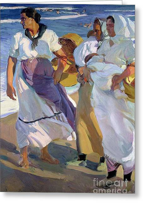 Valencian Fisherwomen Greeting Card