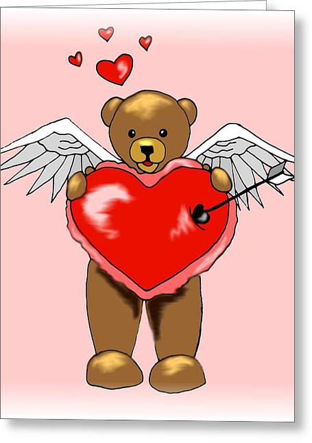 Valentine Bear Greeting Card by Scarlett Royal