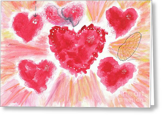 Valentine Greeting Card by Dominique Fortier