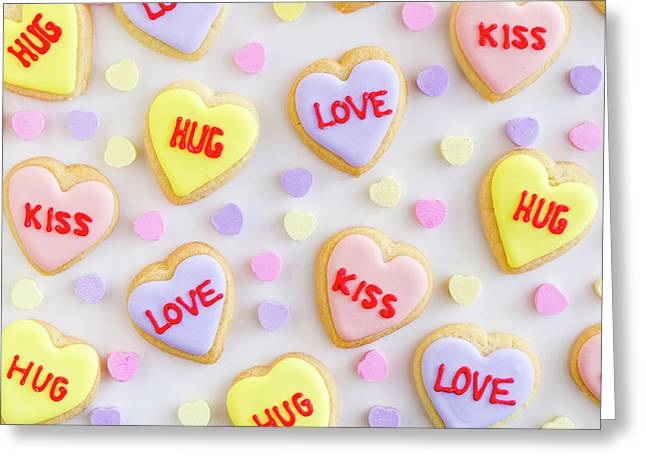Greeting Card featuring the photograph Valentine Heart Cookies by Teri Virbickis