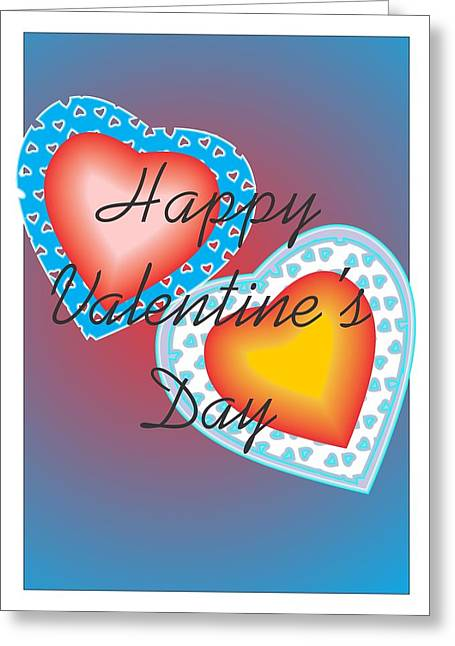Greeting Card featuring the painting Valentine Lace by Sherril Porter