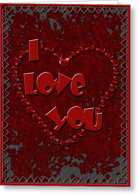 Greeting Card featuring the digital art Valentine Love by Michelle Audas
