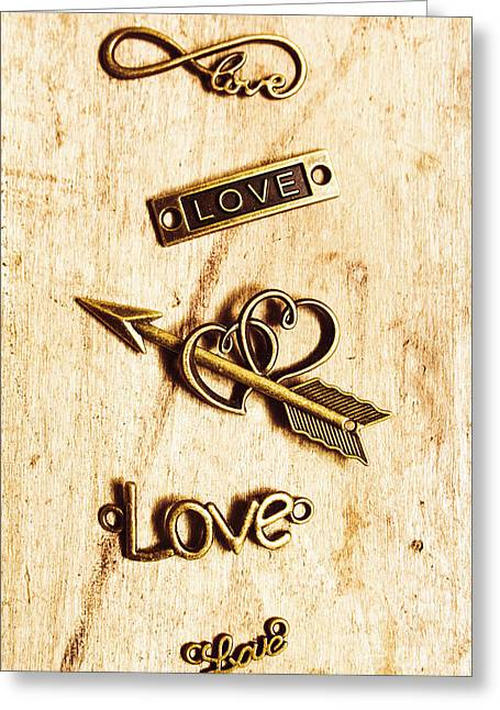Valentine Pendants Greeting Card by Jorgo Photography - Wall Art Gallery