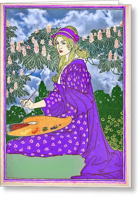 Valentine Princess Greeting Card by John Haldane