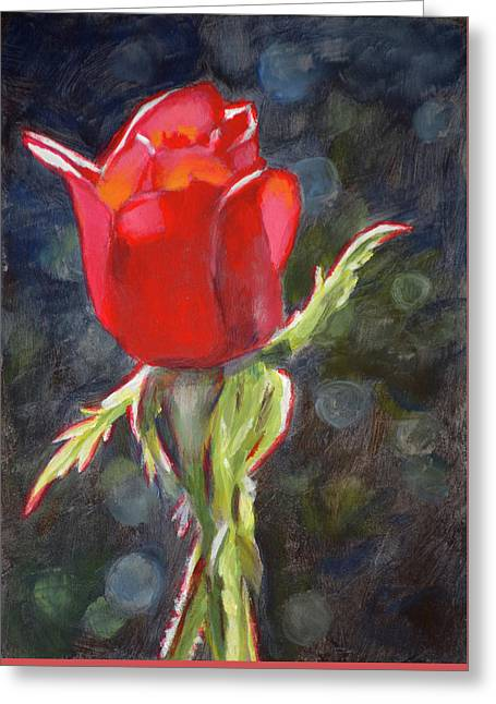 Valentine Rose Greeting Card by Christopher Reid