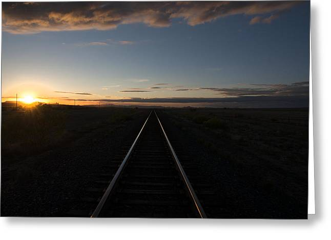 Valentine Texas Tracks Greeting Card by Kevin Bain