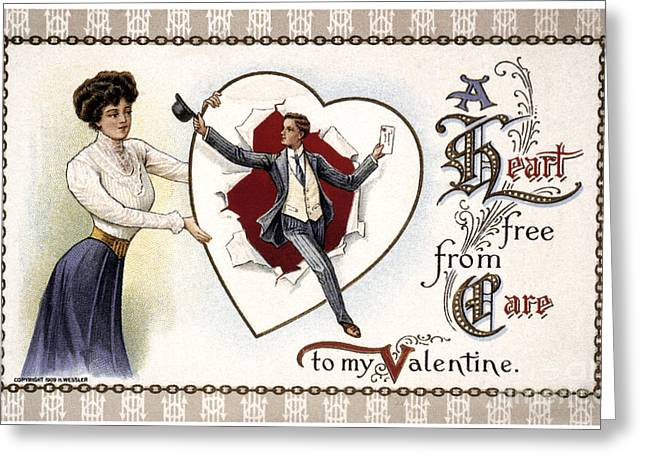 Valentines Day Card, 1909 Greeting Card by Granger