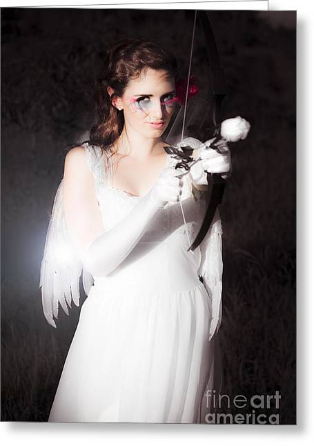 Valentines Day Cupid Greeting Card