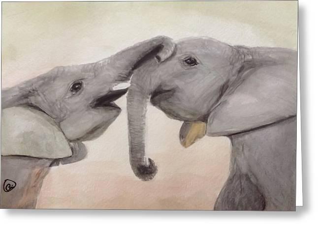 Valentine's Day Elephant Greeting Card
