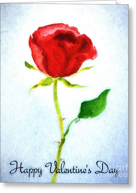 Valentine's Day Rose Greeting Card by Claire Bull