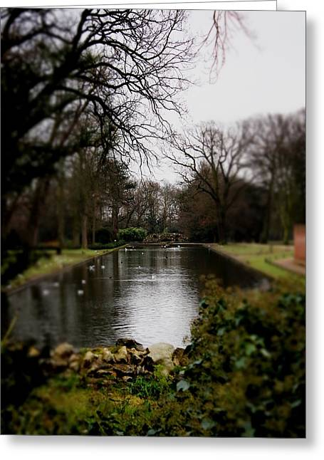 Valentines Park Greeting Card by Perggals - Stacey Turner