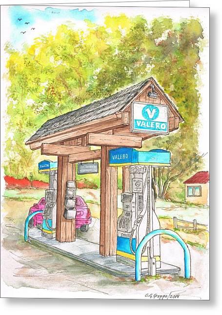 Valero Gas Station In Big Sur, California Greeting Card by Carlos G Groppa