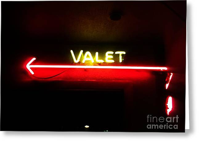 Valet Greeting Card by Jenny Revitz Soper