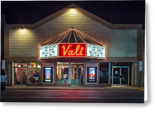 Vali Theater Monte Vista, Colorado Greeting Card by Kenneth Michel