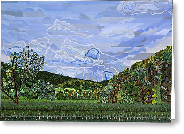 Valle Crucis 1 View From Herb Thomas Road Greeting Card by Micah Mullen