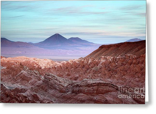 Valle De La Muerte At Sunset Atacama Desert Chile Greeting Card