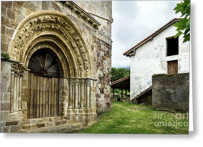Vallejo De Mena Romanesque Church Of San Lorenzo Greeting Card