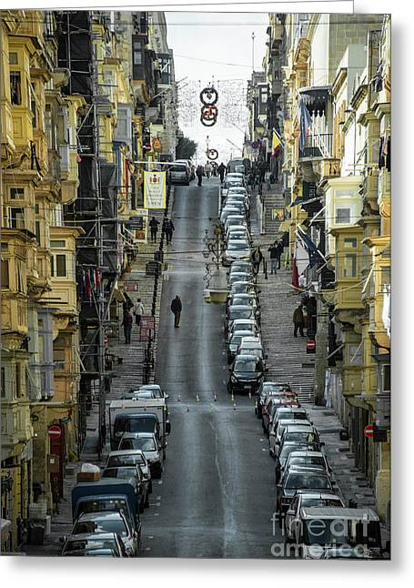 Valletta Steep  Greeting Card