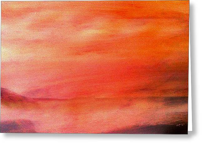 Valley At Sunset Greeting Card