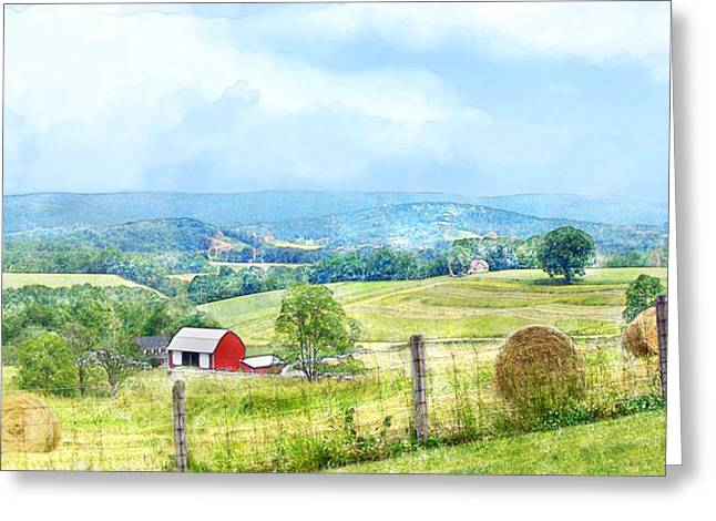 Valley Farm Greeting Card