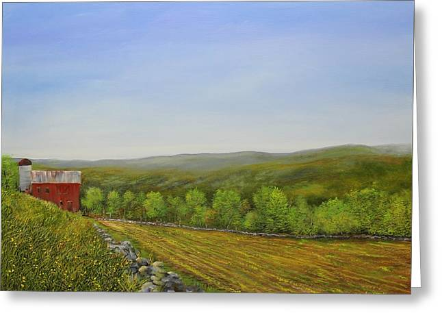 Valley Farm Greeting Card by Ken Ahlering