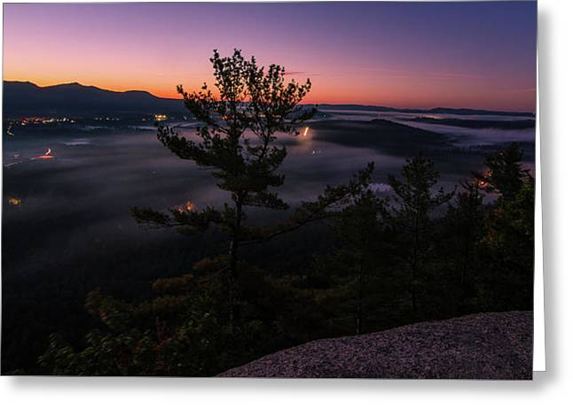 Valley Fog Greeting Card by Paul Noble