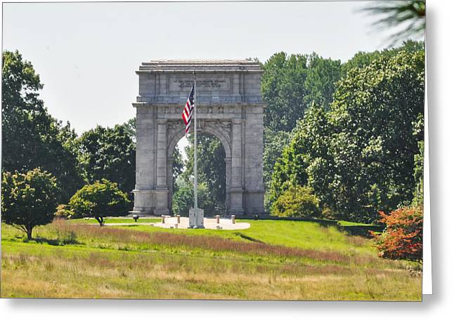 Valley Forge Arch In Summer Greeting Card by Bill Cannon