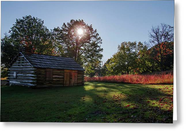 Valley Forge Cabin In Autumn Greeting Card