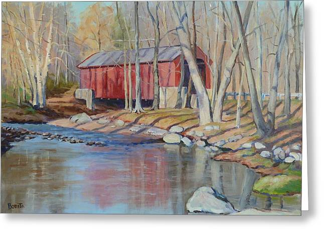 Valley Forge Covered Bridge Greeting Card