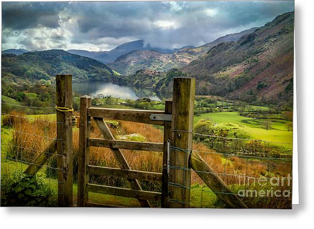 Valley Gate Greeting Card by Adrian Evans