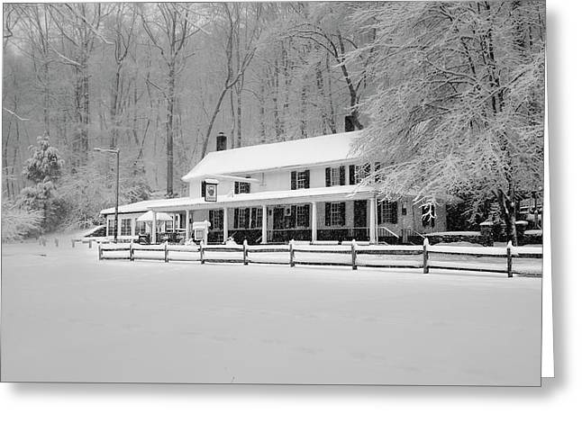 Valley Green In The Winter - Philadelphia Greeting Card by Bill Cannon