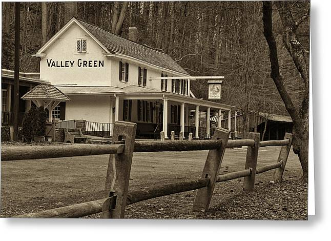 Valley Green Greeting Card by Jack Paolini