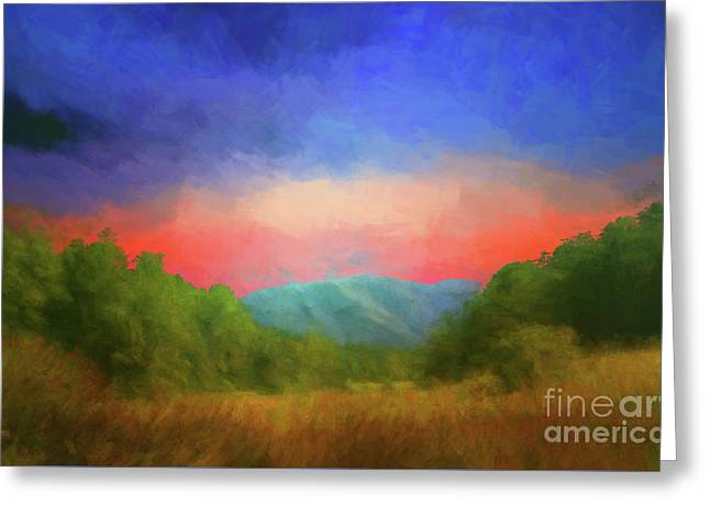 Valley In The Cove Greeting Card by Geraldine DeBoer