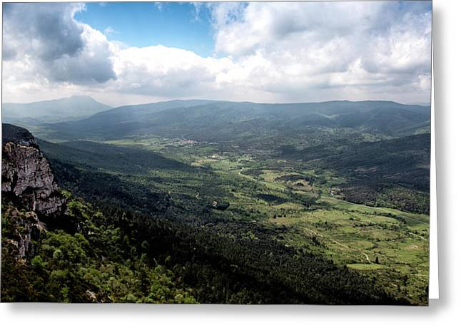 French Mountain Valley Greeting Card by Corey O'Beirne