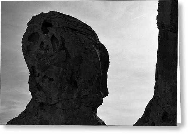 Valley Of Fire IIi Sq Bw Greeting Card by David Gordon