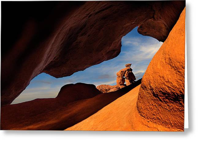 Valley Of Fire Look Through Greeting Card
