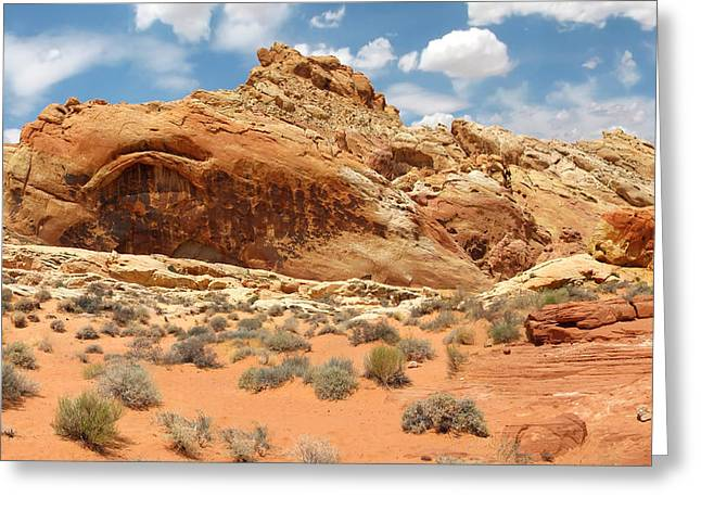 Valley Of Fire Greeting Card by Mary Lane