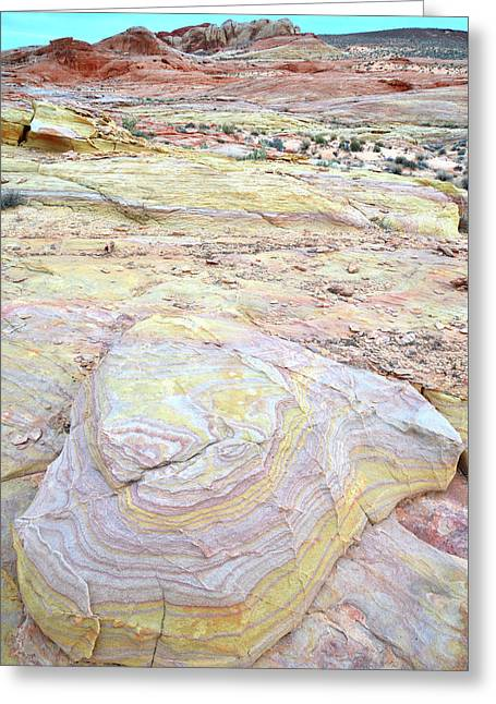 Greeting Card featuring the photograph Valley Of Fire Pastels by Ray Mathis