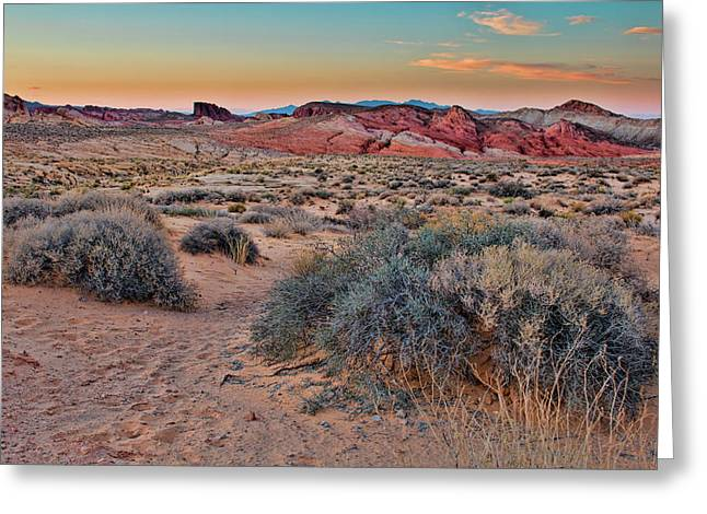 Valley Of Fire Sunset Greeting Card